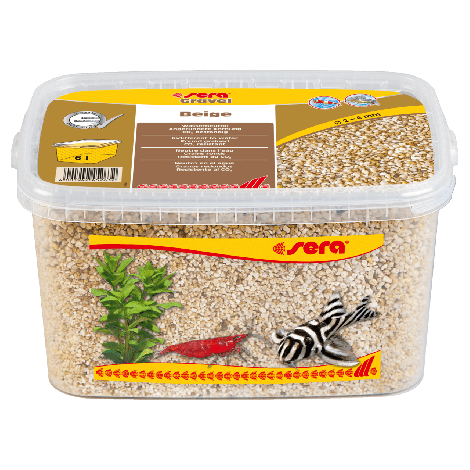 sera gravel beige 1-3 mm 6 liter