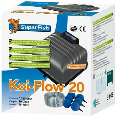 Koi flow 20 beluchting set.