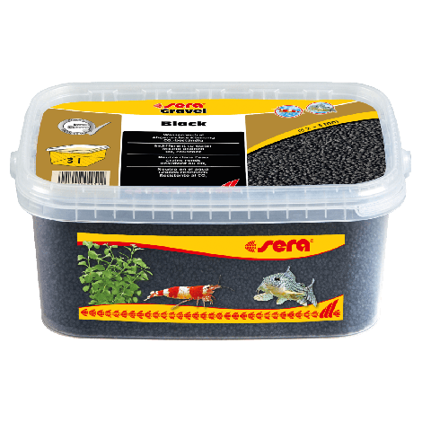 sera gravel black 2-3 mm 3 liter