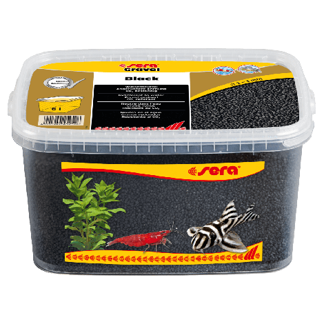 sera gravel black 2-3 mm 6 liter