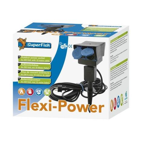 SF FLEXI POWER STEKKERDOOS 8 MTR